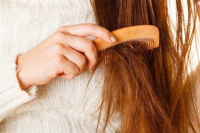 髪の毛がパサパサになっているイメージ